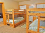 Bedroom 5 with 4 Twin Beds