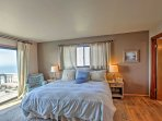 The master bedroom offers a king-sized bed with a memory foam mattress.