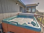Unwind in the soothing waters of the hot tub.