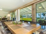 Main home: dining table for eight.