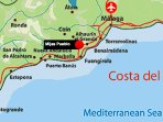 Location, location, location.. super central on the coast. Close to Malaga, Fuengirola, Marbella.