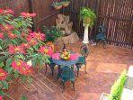 The private garden to enjoy meals in the open air.