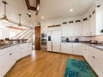 Huge kitchen, gas stove, plenty of workspace