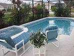 Enjoy our 16 x 30 pool & spa