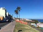 A walk to El Morro is 10 minutes. You can also take the trolley.