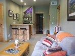 Living space & wet bar