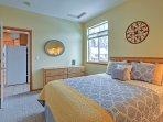 Slip into sweet dreams in this upstairs bedroom.