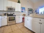 If you enjoy cooking, you'll love this fully equipped kitchen with lots of counter space.