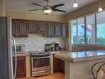 The newly remodeled kitchen has everything you need.