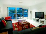 Games room towards the canal. Foxtel Cable TV, DVD player with heaps of DVD's, Wii game console