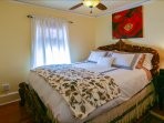 bdm #2 ~ Super Comfy Queen ~ High Thread Linens ~ ceiling fan