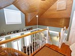 Loft Showing Top of Alternating Stairs