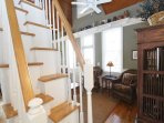 Alternating Staircase Leads to Loft