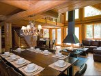 Rustic Dining Area Seats Ten Guests
