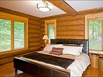 Master Bedroom has a Stylish King Bed
