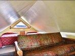 The Loft Area Also has a Futon Bed
