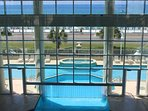 Amazing views from the indoor and outdoor pool.