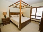 Master Bedroom has a Comfy King Bed and Attached Full Bath