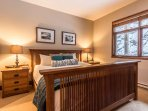 One King Bed is Featured in the Master with En Suite