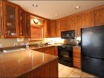 The Fully Equipped Kitchen is Spacious