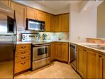 Fully Equipped Kitchen has Stainless Steel Appliances
