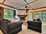 The Living Area is Perfect for Gathering Together and Playing a Board Game