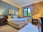 The Master En Suite Features One Cozy Queen Bed