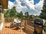 Private Deck with Guest Seating and BBQ Grill