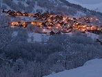 Vaujany near Alpes d'Heuz