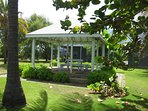 one of two gazebos