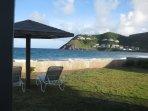view of Ocean Edge Resort from ocean front at Sealofts