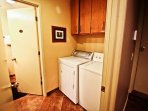 Lower level hall with washer/dryer