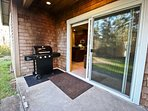Back deck with gas BBQ