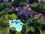 Aerial view of Villa Mediterania
