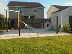 outdoor sandy area for childrens play or just relax in the hammock