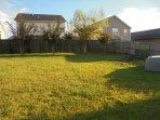large landscaped back yard
