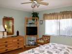 Master bedroom with HDTV and DVD player