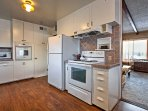 Prepare tasty meals in the fully equipped kitchen.