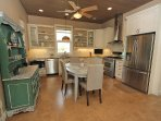 Stainless steel appliances, updated and large kitchen