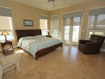 spacious master bedroom with walkout balcony