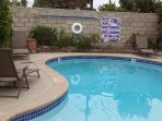 Private Gated pool in backyard. Lounge chairs for everyone