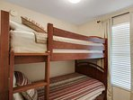 Bunk Beds located just off the hallway with a convenient bath!