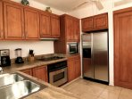 Whether preparing treats or mixing drinks, the kitchen has everything you need