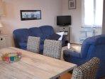 La Goélette : séjour vue sur le port de plaisance