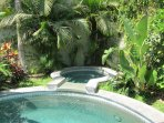 Retreat to the tropical secluded spa any time of day or night!
