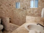 Gorgeous tile work in all the luxurious bathrooms.