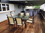 Enjoy outdoor dining on the massive rear deck area complete with modern gas BBQ.