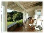 Lanai full length of house + both sides