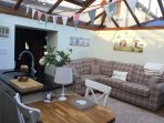 Beckside Cottage, Eamont bridge Cumbria, sleeps 4, garage and 1 parking space, private garden