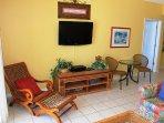 Living Room w/ Large Flat Screen